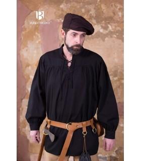 Hemd mittelalterlichen bindungen Störtebecker, schwarz