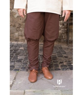 Pantalones medievales Wigbold, marrón