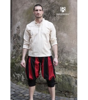 Pantalones pirata Maximilian, rojo-negro