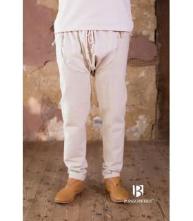 Pantalones medievales Brandolf, crema
