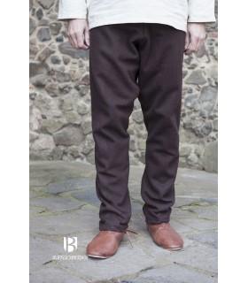 Pantalones medievales Fenris, marrón