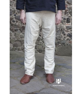 Pantalones medievales Ragnar, crema