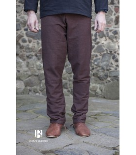 Pantalones medievales Ragnar, marrón oscuro