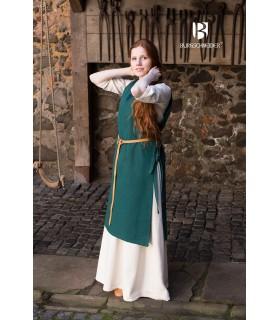 Sobrevesta Medieval Mujer Vikinga Haithabu Verde