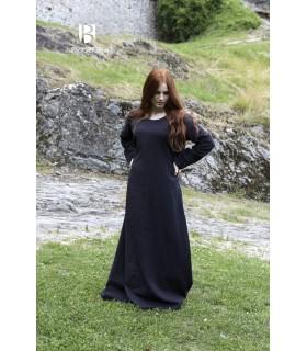Túnica medieval Freya, negro