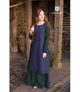 Sobrevesta Medieval Mujer Haithabu Azul