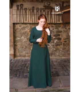 Túnica medieval Freya, verde oscuro