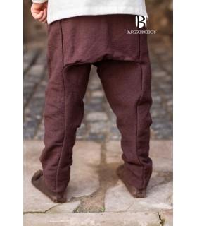 Pantalón medieval niño Ragnarsson marrón