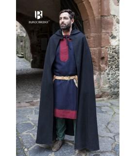 Capa medieval lana Hibernus, negra