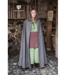 Capa medieval lana Hibernus, gris