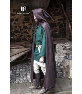 Capa medieval lana Hibernus, marrón