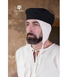 Gorro medieval Hugo, negro