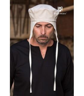Gorro medieval Hugo, blanco crudo