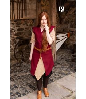 Túnica mujer Meril, lana roja