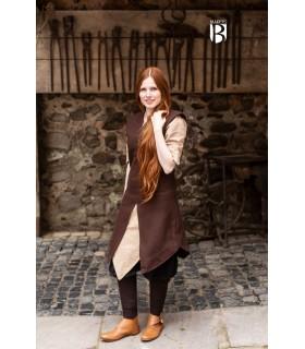 Túnica mujer Meril, lana marrón