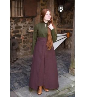 Falda medieval Mera, algodón marrón
