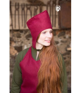 Sombrero de mago Adis, lana roja