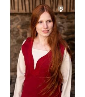 Vestido medieval Lannion, rojo
