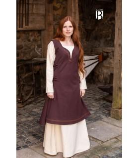 Vestido medieval Lannion, marrón