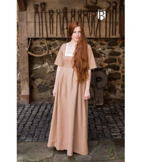 Vestido medieval Frideswinde, beige