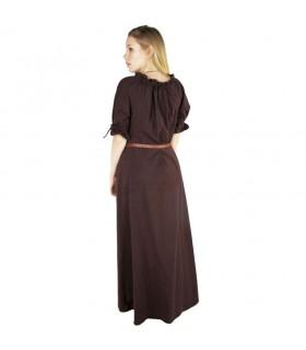 Vestido medieval Karen, marrón