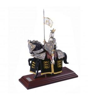 Armadura a caballo Casco de Dragón Dorado