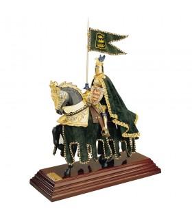 Armadura a caballo Casco Dragón con capa
