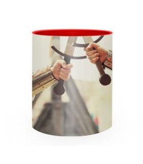 Taza de Cerámica Lucha Medieval