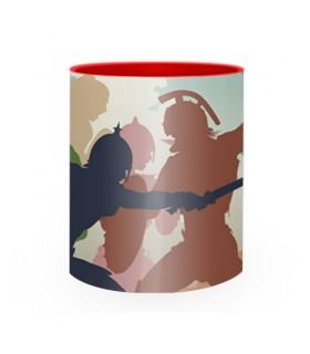 Taza de Cerámica Lucha Gladiadores Romanos