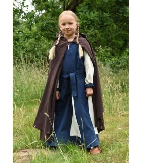 Capa medieval para niños, marrón