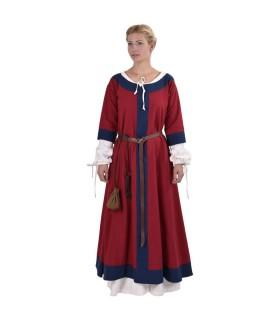 Gudrun Mittelalterkleid, rot-blau