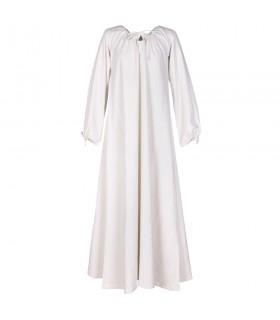 Vestido medieval Ana, blanco