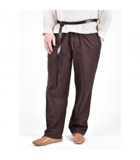 Pantalones medievales Hagen, marrón