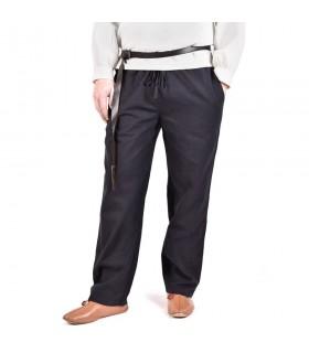 Pantalones medievales Hagen, negro