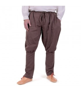 Pantalones vikingos Olaf, marrón