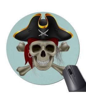 Alfombrilla Ratón Redonda Calavera Pirata