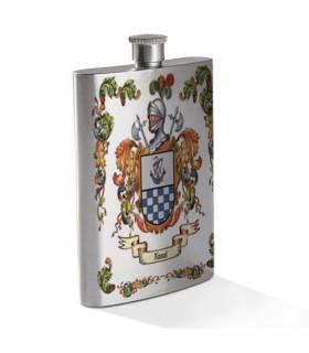 Petaca personalizada con Escudo Heráldico de 1 Apellido