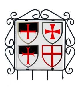 Colgador de llaves con Cruces Templarias
