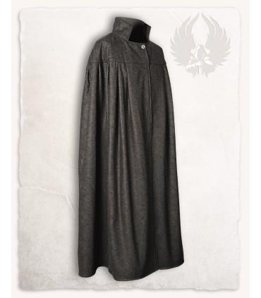 Capa medieval cuello alto, lana