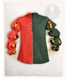 Jubón mercenario Joerg, rojo-verde