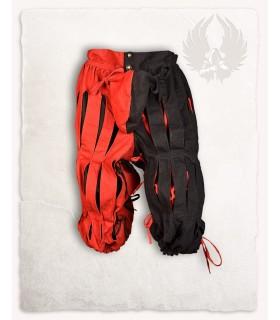 Pantalón Mercenario Lansquenete, rojo negro