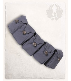 Cinturón medieval con 5 bolsillos