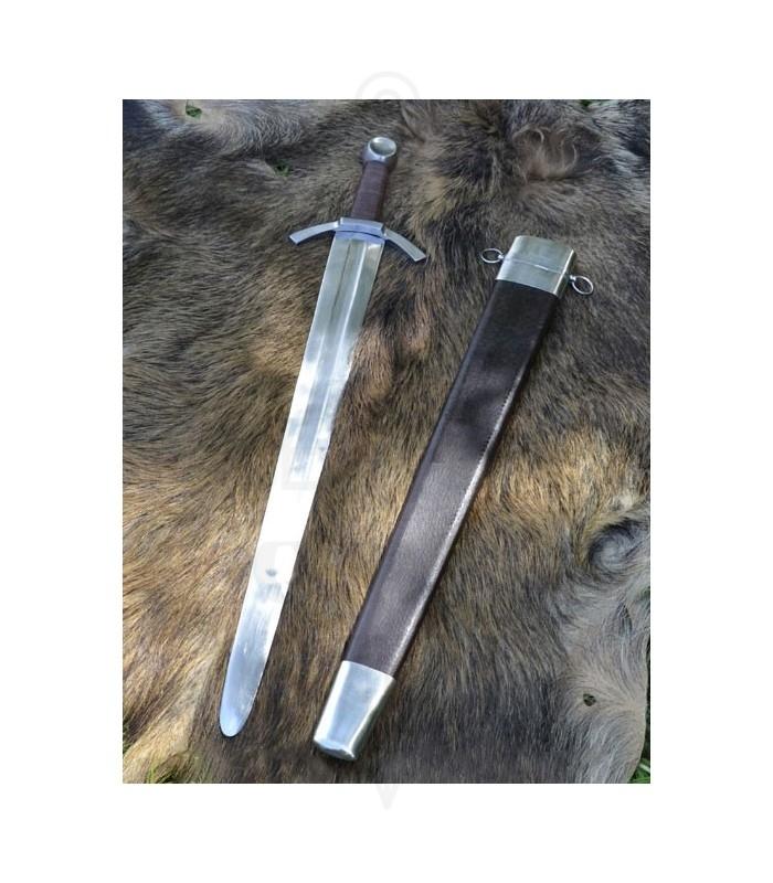 Espada medieval de una mano, hoja ancha