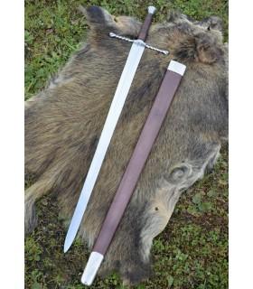 Schwert Bastarda mit hülle, funktionsfähig