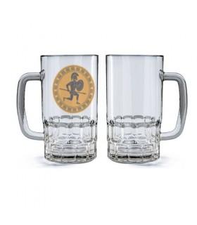 Jarra de Cerveza Cristal Guerrero Hoplita Griego