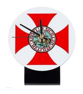 Reloj de mesa Caballeros Templarios (12x14,5 cms.)