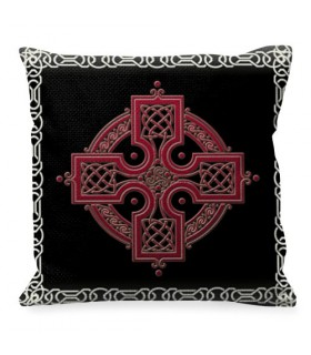 Cojín con símbolo de la Cruz Celta