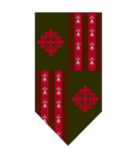 Estandarte Cuartelado Cruz Orden de Alcántara