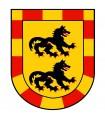 Banner Mittelalterlichen Drachen (120x100 cms.)