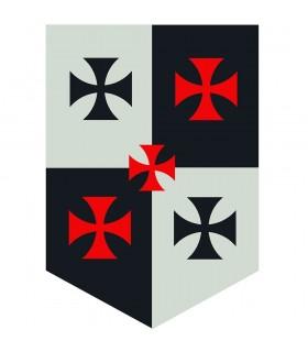 Estandarte Cuartelado Cruces Templarias